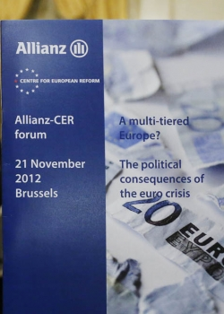 Allianz-CER forum on 'A Multi-tiered Europe? The political consenquences of the euro crisis' event thumbnail