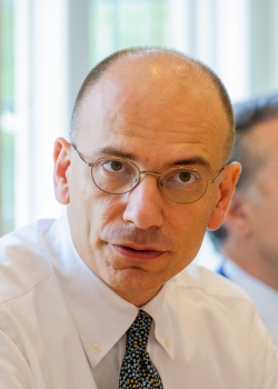 Roundtable on 'The future of Italy and its place in Europe' Enrico Letta, Italian prime minister event thumbnail