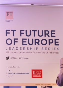 FT Future of Europe Leadership Series: Will the election decide the future of the UK in Europe? event thumbnail