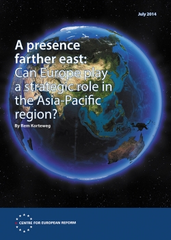 A presence farther east: Can Europe play a strategic role in the Asia-Pacific re